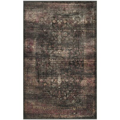 Emily Gray/Black Area Rug Rug Size: Rectangle 33 x 53