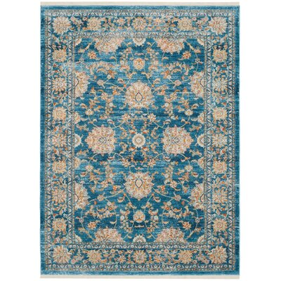 Elvie Brown/ Blue Area Rug Rug Size: Rectangle 4 x 6