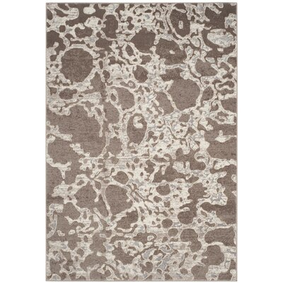 Hermina Taupe Area Rug Rug Size: Rectangle 51 x 76
