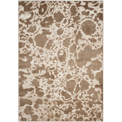 Hermina Light Brown Area Rug Rug Size: Rectangle 51 x 76