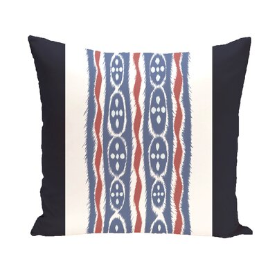 Atilla Stripes Print Outdoor Pillow Color: Brick, Size: 16 H x 16 W x 1 D