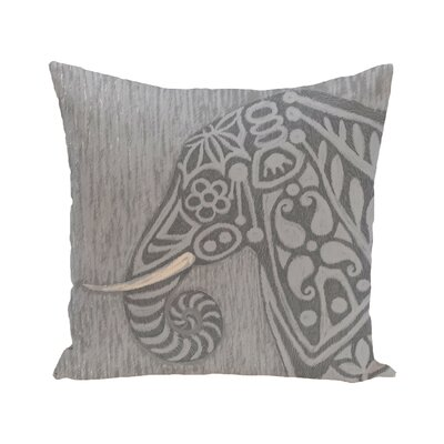 Corbit Inky Safari Print Throw Pillow Color: Gray