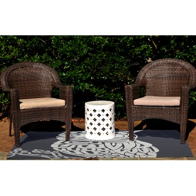 Irvin Hootie Bird Print Navy Blue Outdoor Indoor/Outdoor Area Rug Rug Size: 2 x 3