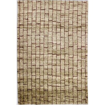Brii Hand-Knotted Ivory Area Rug Rug Size: 5 x 76