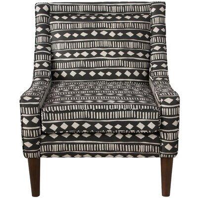 Theodosia Armchair Upholstery: Mali Cloth Black OGA
