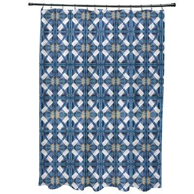 Rafia Beach Tile Shower Curtain Color: Blue