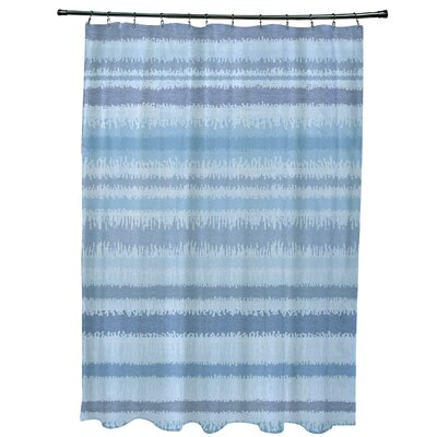 Dorazio Raya De Agua Shower Curtain Color: Light Blue