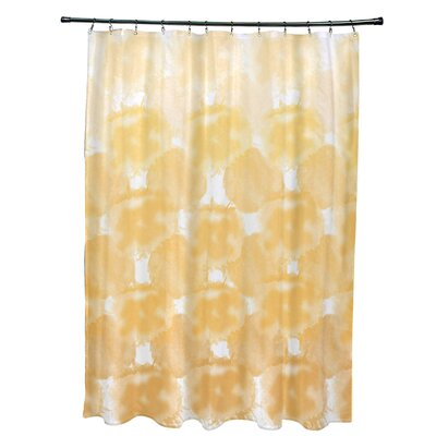 Viet Shower Curtain with 12 Button Holes Color: Yellow