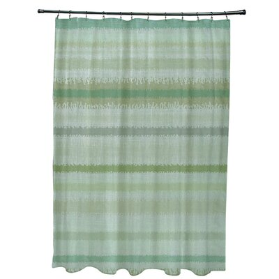 Dorazio Raya De Agua Shower Curtain Color: Green