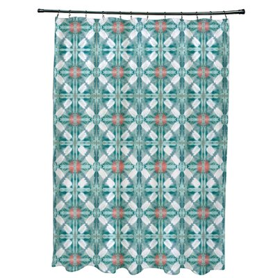 Viet Shower Curtain Color: Aqua