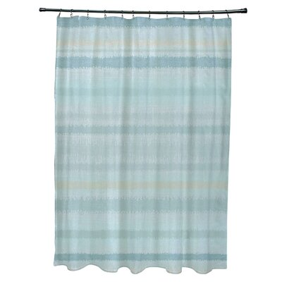Dorazio Raya De Agua Shower Curtain Color: Aqua