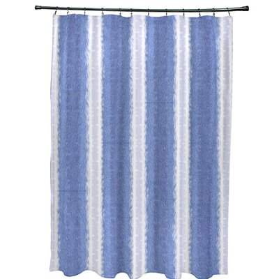 Navarro Lines Shower Curtain Color: Blue