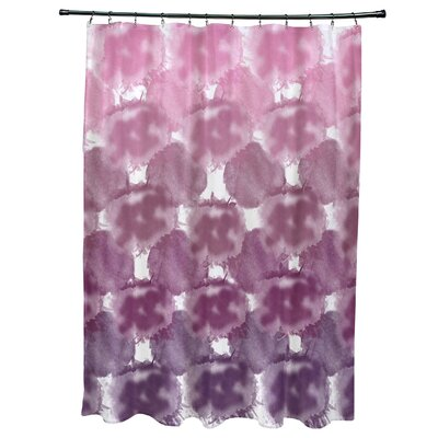 Viet Shower Curtain with 12 Button Holes Color: Purple