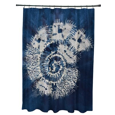Viet Conch Shower Curtain Color: Blue