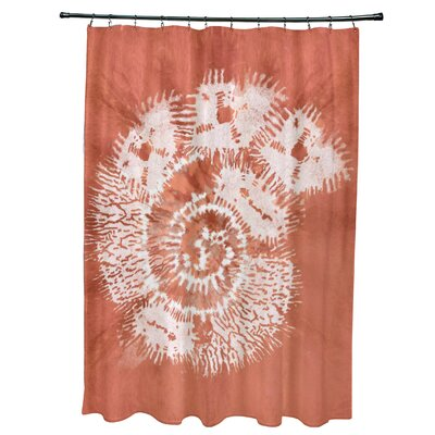 Viet Conch Shower Curtain Color: Coral