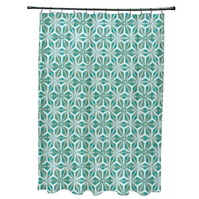 Viet Mosaic Shower Curtain Color: Aqua