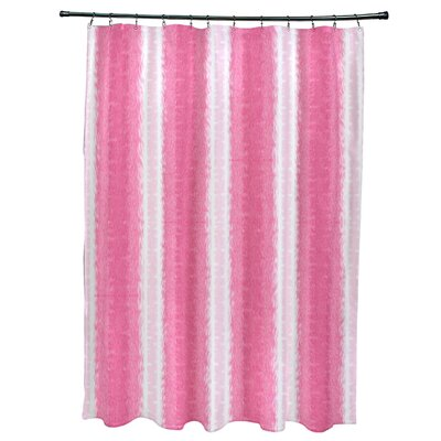 Rafia Sea Lines Shower Curtain Color: Pink