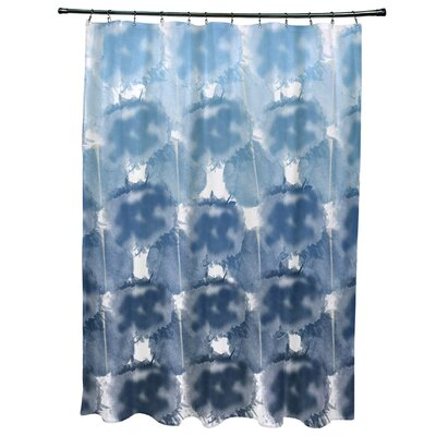 Viet Shower Curtain with 12 Button Holes Color: Blue