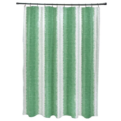 Navarro Lines Shower Curtain Color: Green