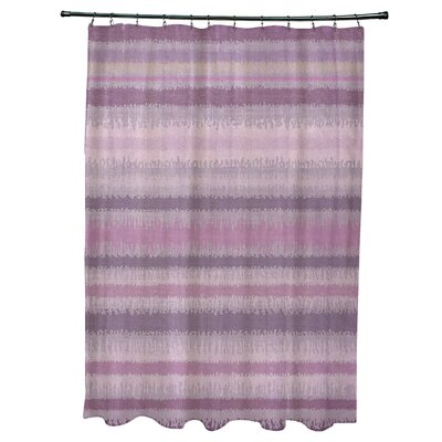 Dorazio Raya De Agua Shower Curtain Color: Lavender