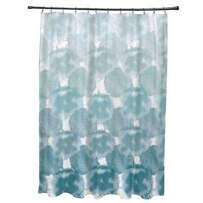Viet Shower Curtain with 12 Button Holes Color: Teal