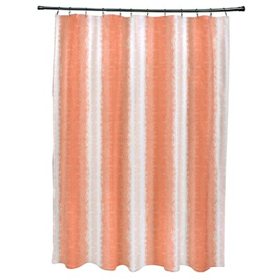 Navarro Lines Shower Curtain Color: Orange