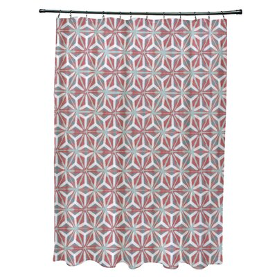 Viet Mosaic Shower Curtain Color: Coral