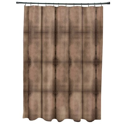 Viet Pool Shower Curtain Color: Brown