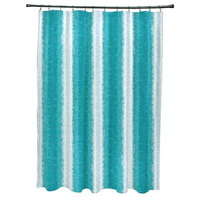Navarro Lines Shower Curtain Color: Teal
