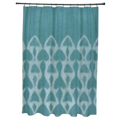 Rafia Watermark Shower Curtain Color: Teal
