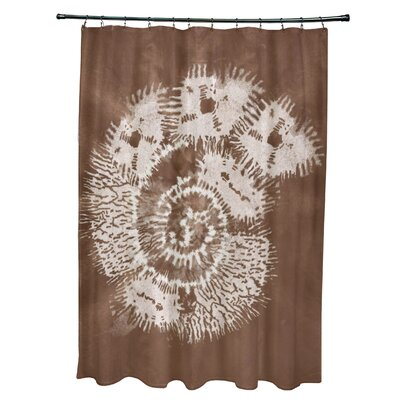 Viet Conch Shower Curtain Color: Brown