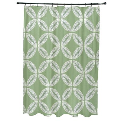 Viet Tidepool Shower Curtain Color: Green
