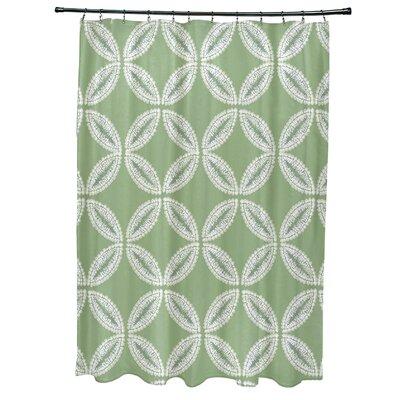 Rafia Tidepool Shower Curtain Color: Green
