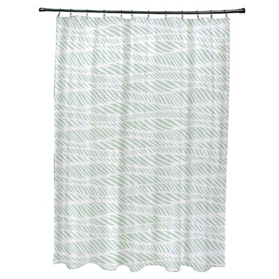 Viet Rolling Waves Shower Curtain Color: Green