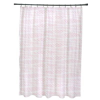 Viet Rolling Waves Shower Curtain Color: Pink