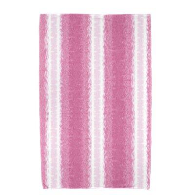 Rafia Sea Lines Bath Towel Color: Pink