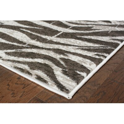 Jasmine White/Coconut Hush Indoor Area Rug Rug Size: Runner 110 x 71