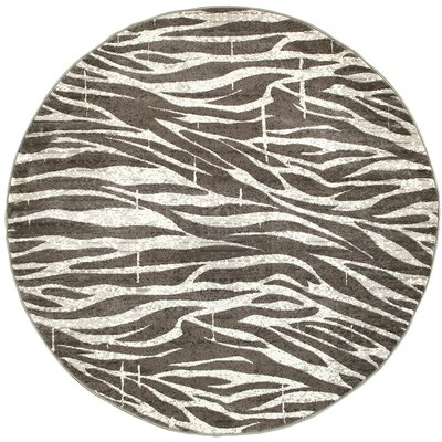 Wali White/Coconut Hush Indoor Area Rug Rug Size: Round 4