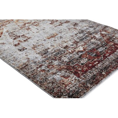 Brahim Red/Gray Area Rug Rug Size: 2 x 3