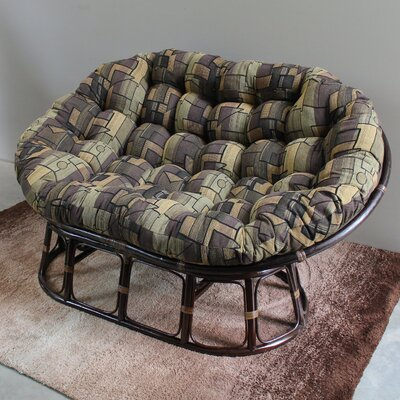 Bouirou Papasan Chair Fabric: Black Zen Dream