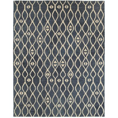 Mary-Kate Hand-Crafted Blue Area Rug Rug Size: 89 x 119