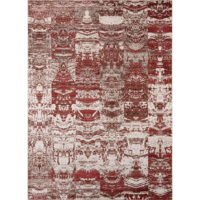 Victoria Red Area Rug Rug Size: Rectangle 33 x 51