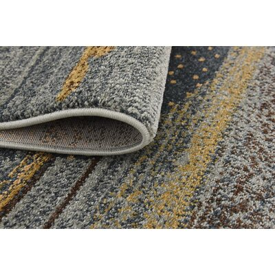 Jan Gray/Yellow Area Rug Rug Size: Rectangle 10 x 13