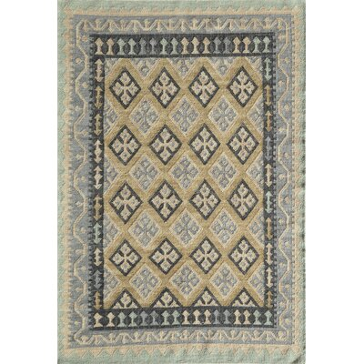 Adolphus Hand-Woven Gray/Green Area Rug Rug Size: Rectangle 76 x 96