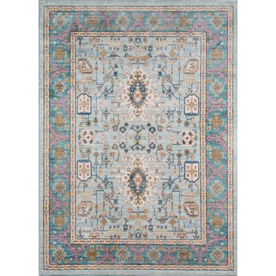 Victoria Light blue Area Rug Rug Size: Rectangle 2 x 3