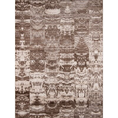 Victoria Brown/White Area Rug Rug Size: Rectangle 5 x 8