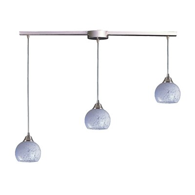 Angeletta 3-Light Linear Pendant Glass Type: Snow White