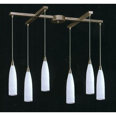 Apolline 6-Light Pendant Glass Type: Snow White