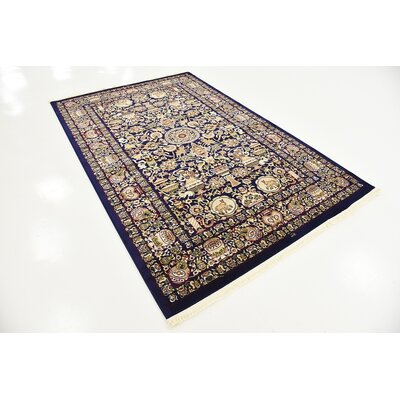 Altadena Navy Blue Area Rug Rug Size: Rectangle 910 x 13