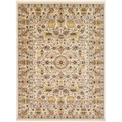 Altadena Ivory Area Rug Rug Size: Rectangle 910 x 13